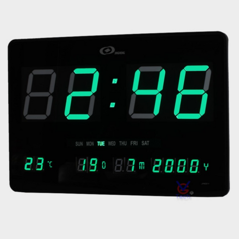 Clock LED Large Green