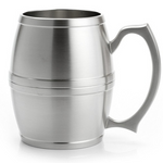 Tankard Barrel Large Pewter