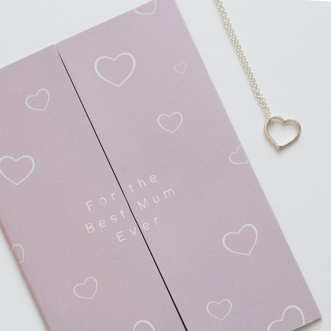 Personalised Mother's day card and heart necklace gift