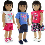 "Doll Clothes Fits American Girl & Other 18"" Inch Dolls Dress Set Of 3 Outfits Mix & Match"