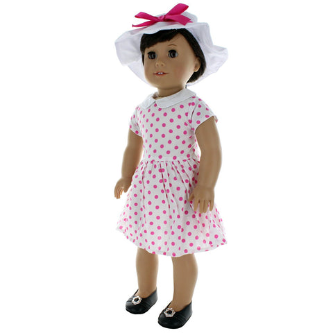 "Doll Clothes Fits American Girl 18"" Inch Outfit 60's Style Dress"