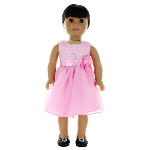 "Doll Clothes Fits American Girl 18"" Inch Outfit Pink Princess Dress"