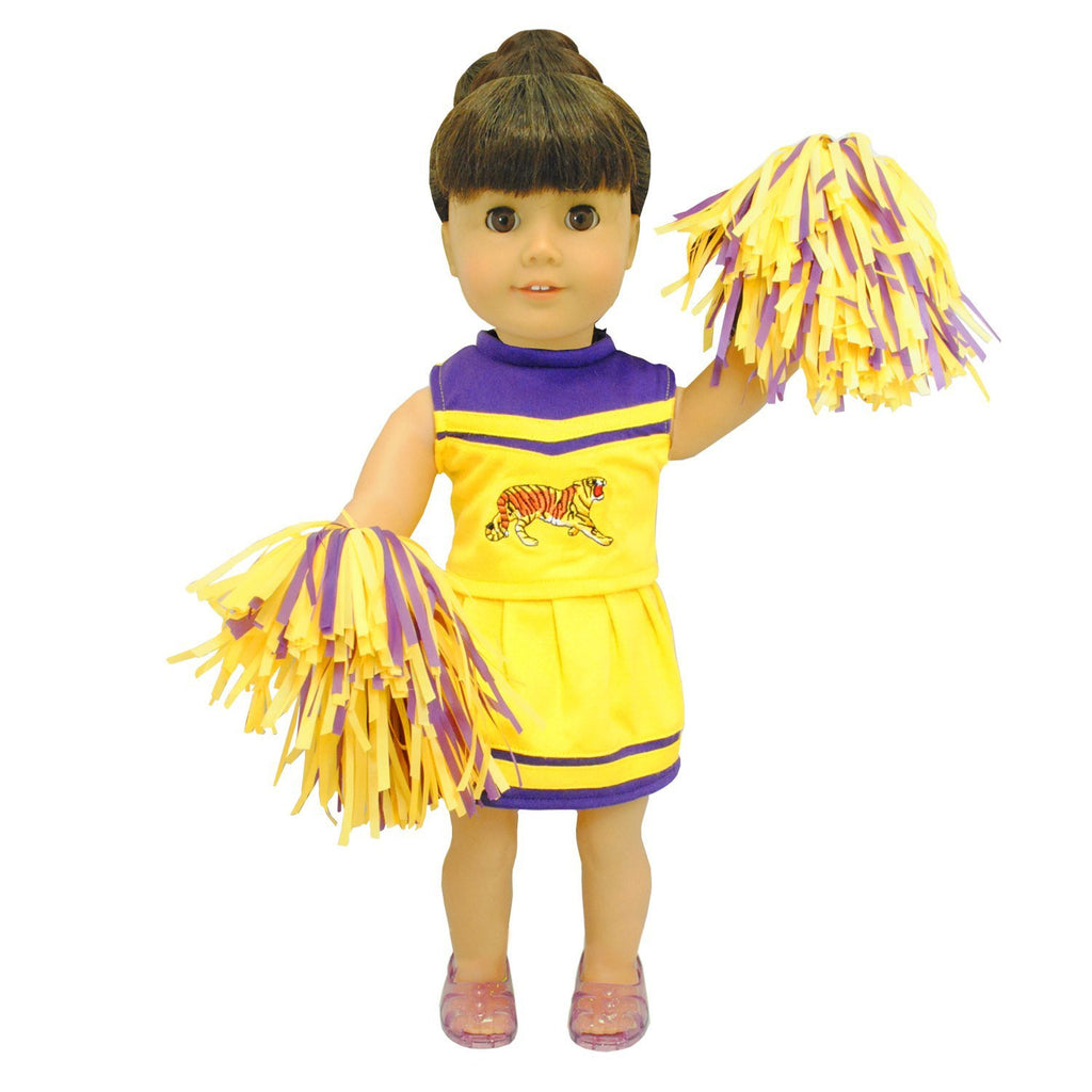 T TOOYFUL Doll Clothes Fit American Doll Dolls 18 Inch Clothing with Accessories Pink Cheerleader Outfit