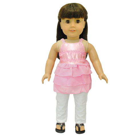 "Doll Clothes Fits American Girl 18"" Inch Outfit Blouse Pink & Pants"