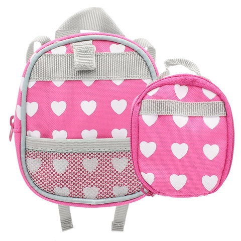 "Doll Clothes Fits American Girl & Other 18"" Inch Dolls Backpack Lunch Bag Pink"