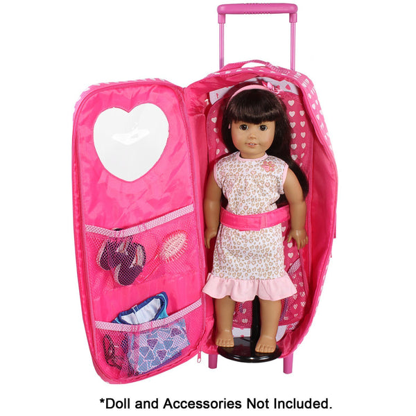 Doll Clothes Fits American Girl Amp Other 18 Quot Inch Dolls Carrier Trolly Pink Butterfly Closet