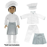 "Doll Clothes Fits American Girl & Other 18"" Inch Dolls  22 Pieces Career Outfit Set"