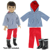 "Doll Clothes Fits American Girl & Other 18"" Inch Dolls 6 Casual Outfits Set"