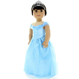 "Doll Clothes Fits American Girl & Other 18"" Inch Dolls Beautiful Blue Princess Dress"
