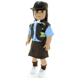 "Doll Clothes Fits American Girl 18"" Inch Girl Scout Outfit Dress Brown"