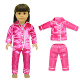 "Doll Clothes Fits American Girl 18"" Inch Pink Pajama Outfit Dress"