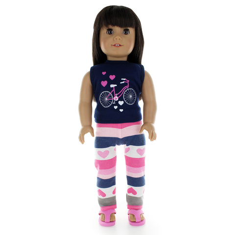 "Doll Clothes Fits American Girl 18"" Inch Legging & Tank Top Outfit"