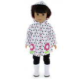 "Doll Clothes Fits American Girl 18"" Inch Raincoat Jacket Sweater Outfit"