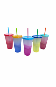 Frosted Color Changing Cup Set