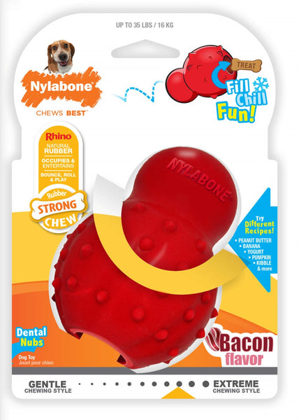 Nylabone Bacon Flavored Rhino Cone Dog Chew Toy