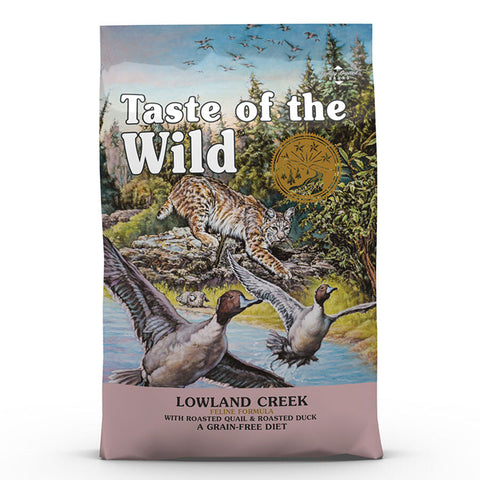 Taste of the Wild Lowland Creek Feline Formula with Quail and Duck Dry Cat Food