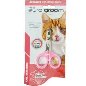 Euro Groom Cat Nail Scissors - Round Nose