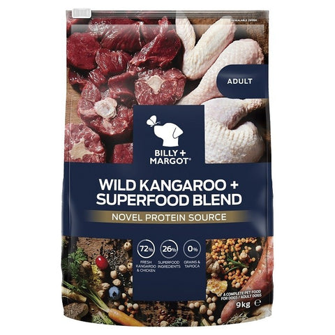 Billy and Margot Dog Dry Food - Kangaroo Superfood Blend
