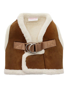 Luxury Faux Shearling Harness - Brown / Cream