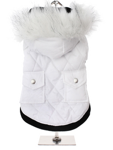 Snow White Quilted Parka