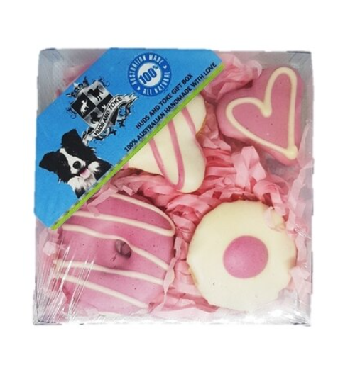 Huds and Toke Dog Treat Gift Box - Pink