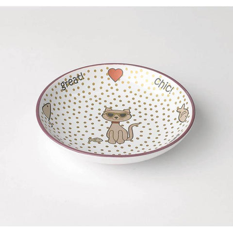 Chic Kitty Ceramic Cat Bowl