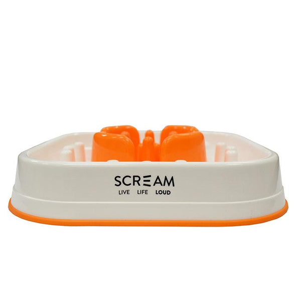 Scream Slow Feed Interactive Dog Bowl