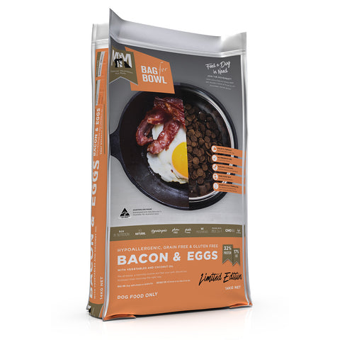 Meals for Mutts Single Protein Bacon and Eggs Grain Free Gluten Free Dog Food