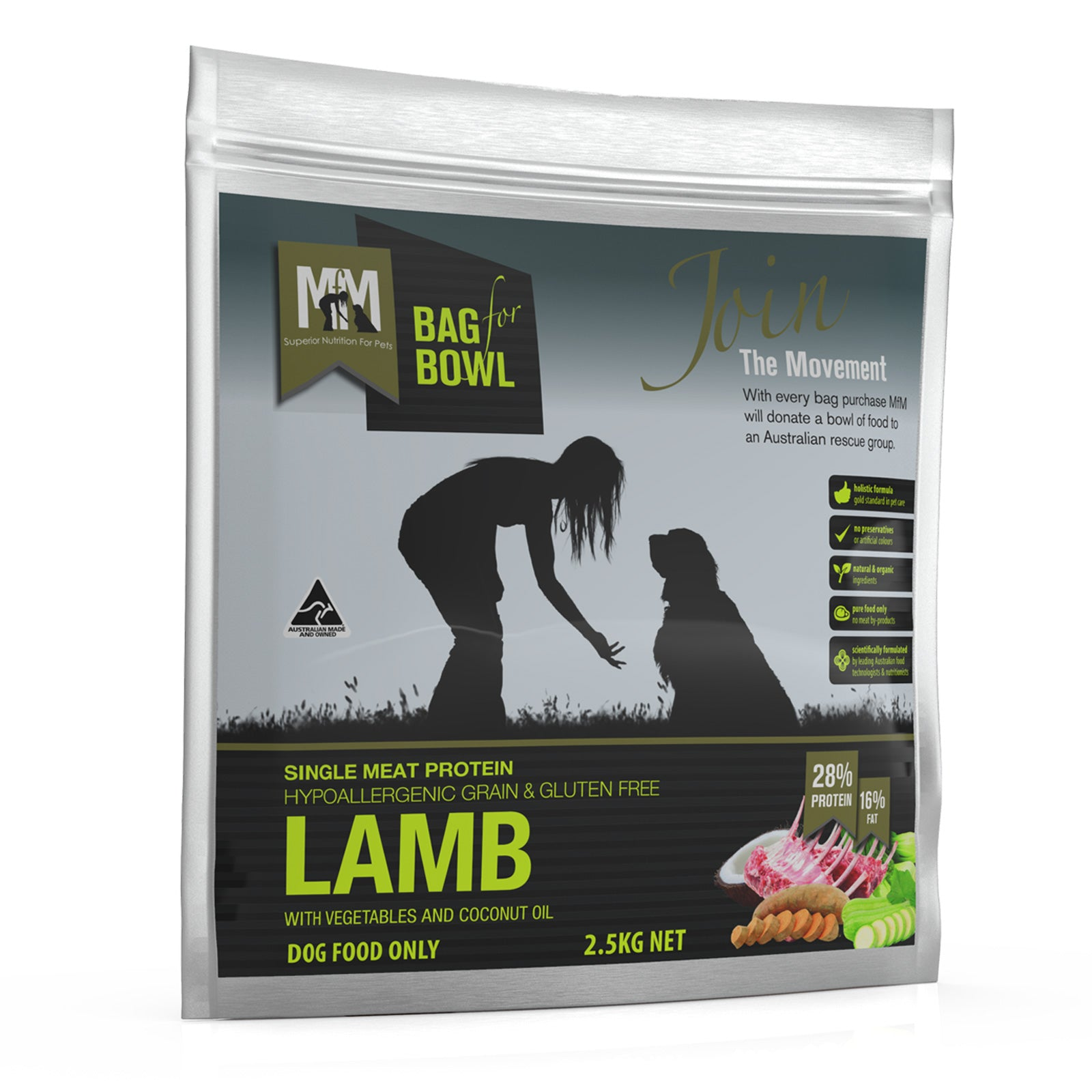 Meals for Mutts Single Protein Lamb Gluten Free Grain Free Dog Food