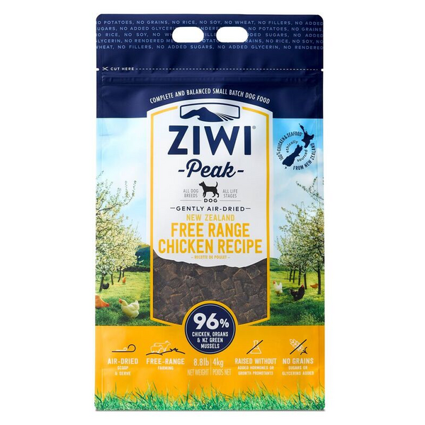 Ziwi Peak Air-Dried Dog Dry Food - Free Range Chicken