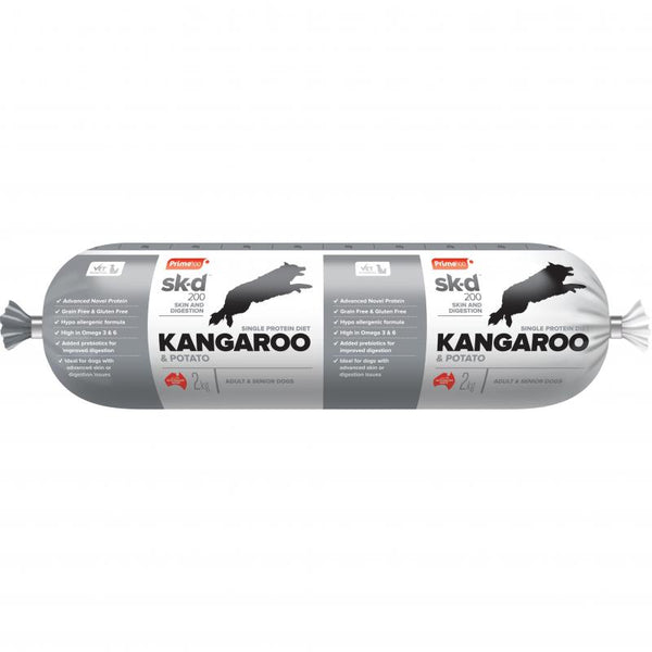 Prime100 Sk-D Kangaroo & Potato Grain Free Dog Roll