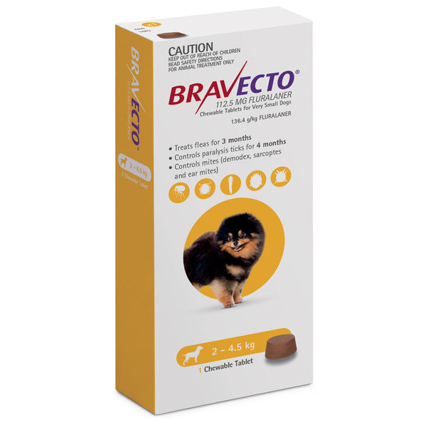 Bravecto Fluralaner Chewables for Dogs