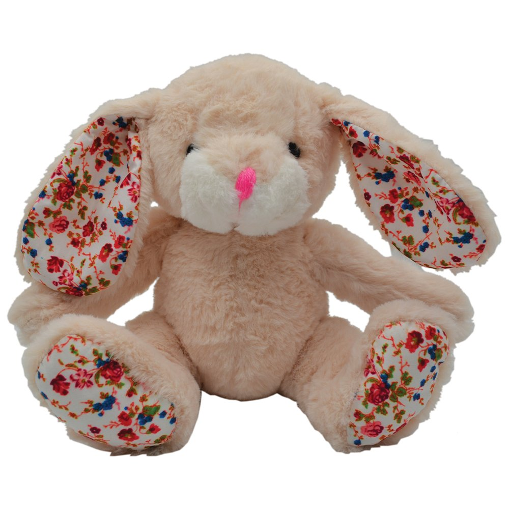 Bunny Cream Snuggle Buddies Plush Dog Toy
