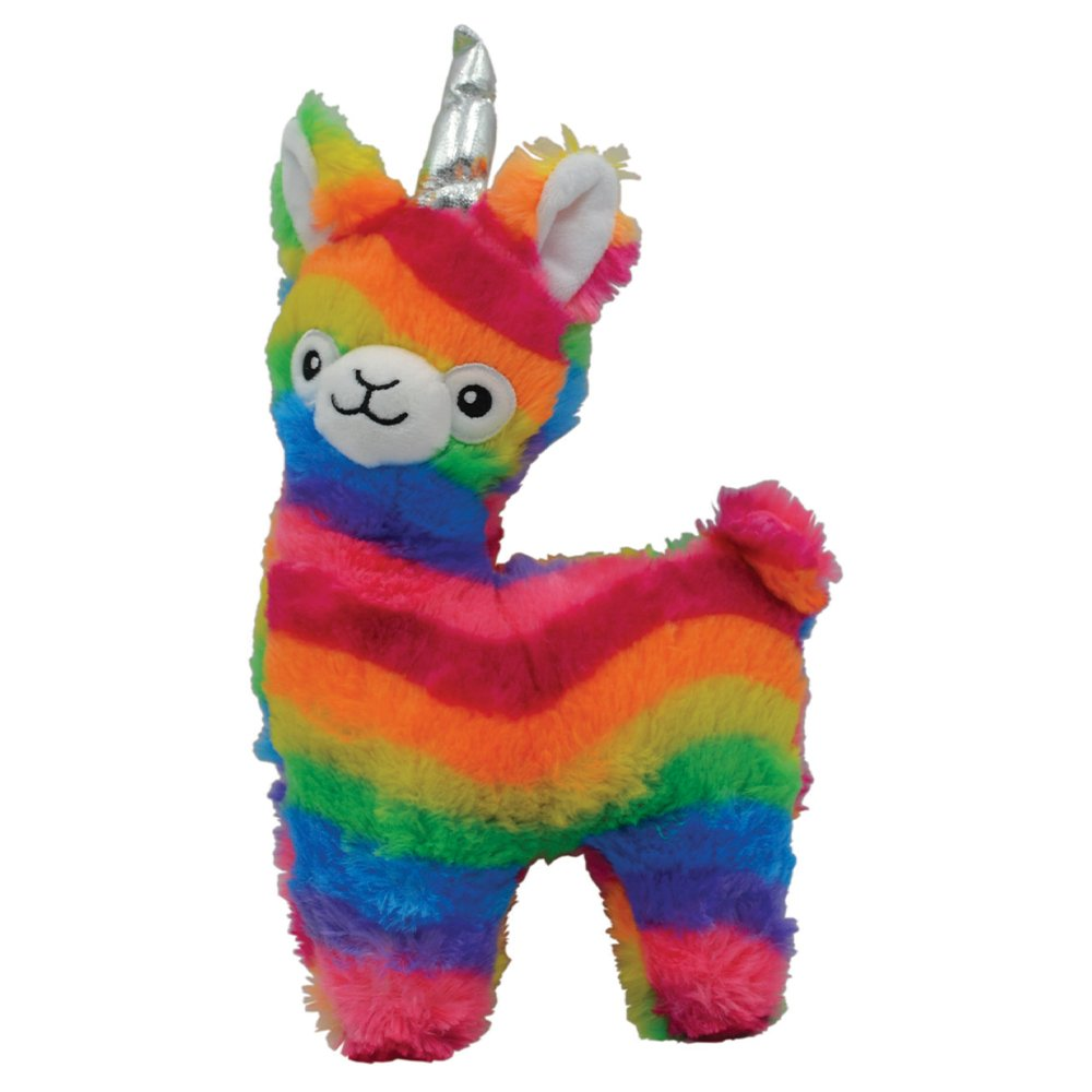 Llamacorn Rainbow Snuggle Buddies Plush Dog Toy