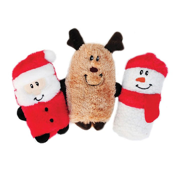 Zippy Paws Holiday Squeakie Buddies Plush Dog Toy