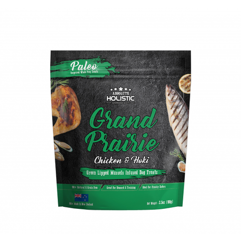 Absolute Holistic Air Dried Dog Treats Grand Prairie - Chicken & Hoki