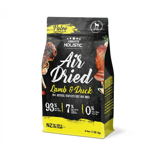 Absolute Holistic Air Dried Dog Food - Lamb & Duck