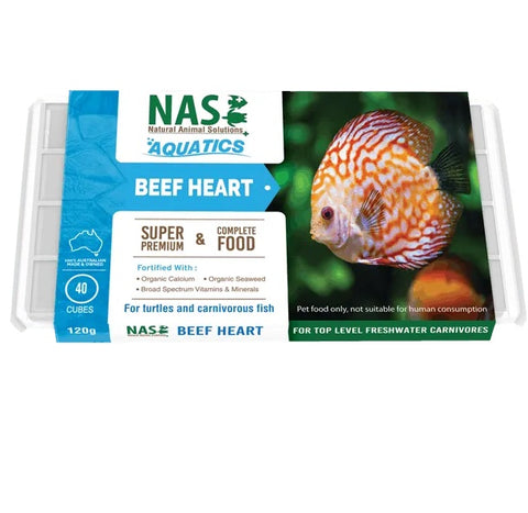 NAS Fresh RAW Fish Food - Beef Heart Frozen