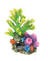 Coral On Rocks Aquarium Ornament