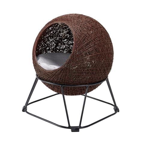 Ibiyaya Zentangle Pet Cave Pod Cat Bed with Cushion