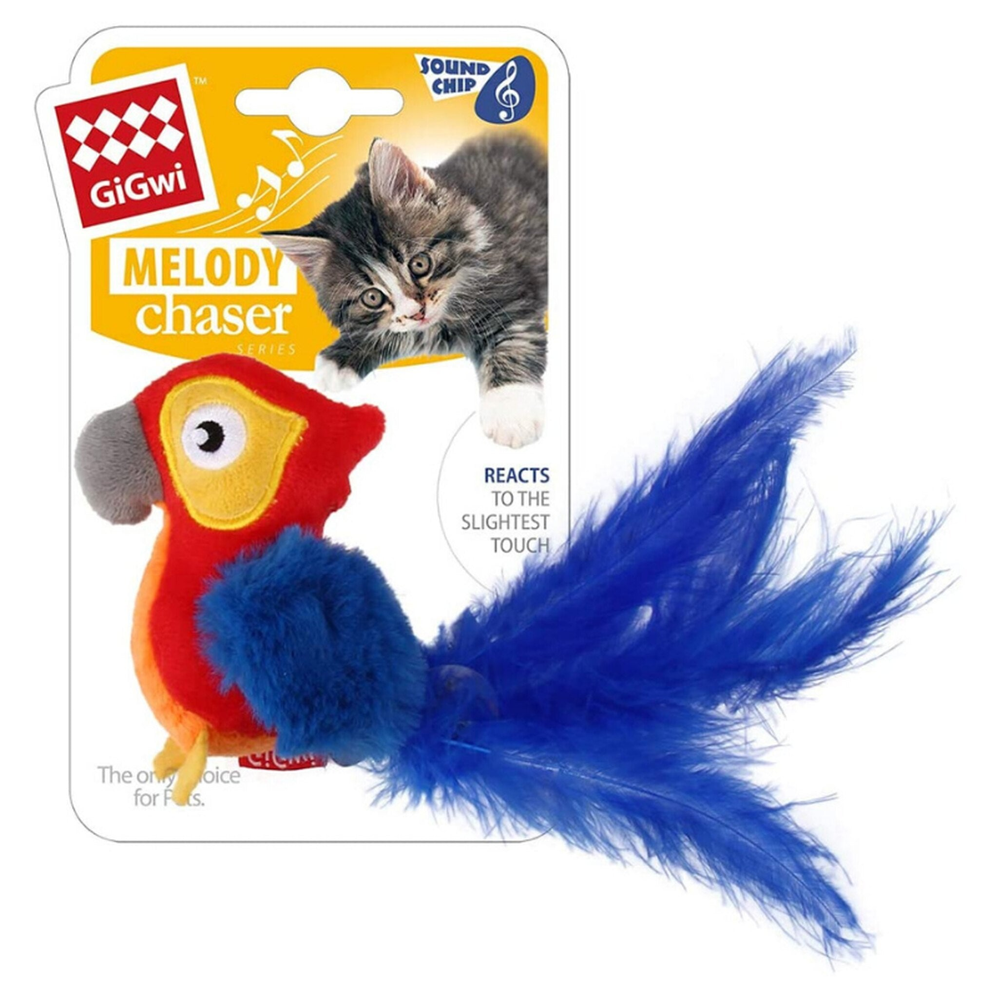 Gigwi Melody Chaser Parrot Motion Active Cat Toy