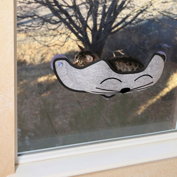 K&H EZ Mount Cat Window Bed Kitty Face