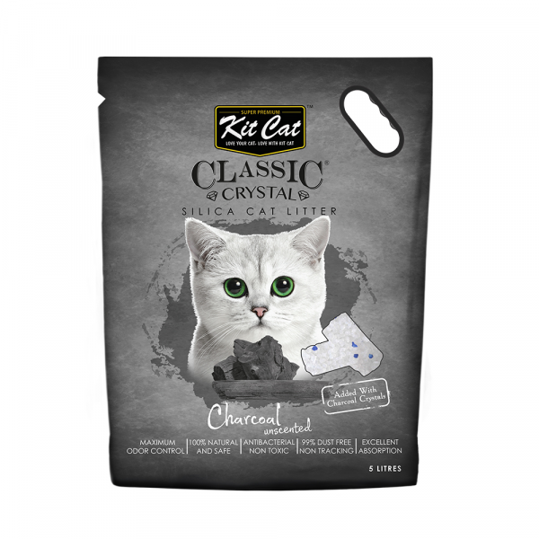 Kit Cat Litter Crystals Charcoal  5 Litre