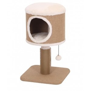 FurKidz Coddle Jute Fleece Rubber Cat Home