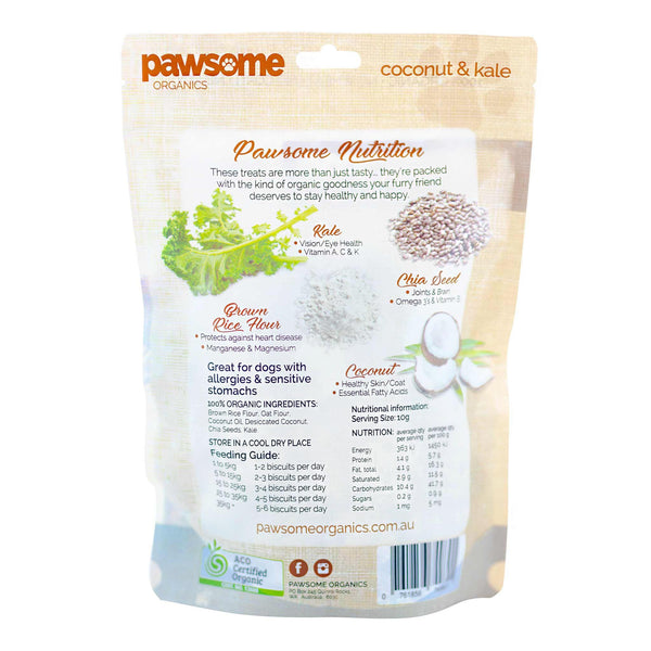 Pawsome Organics Coconut & Kale Dog Treats