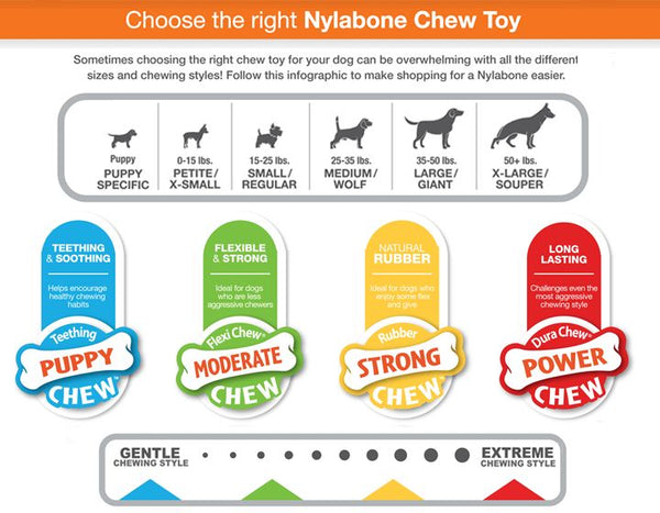 Nylabone Duck Flavour Rubber Camo Chew Dog Toy