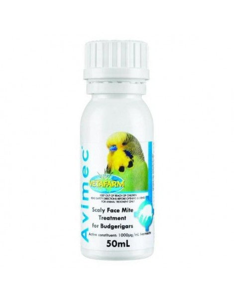 Avimec Scaly Face Mite Treatment for Budgies