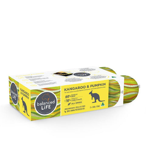 Balanced Life LID Kangaroo and Pumpkin Roll Dog Food