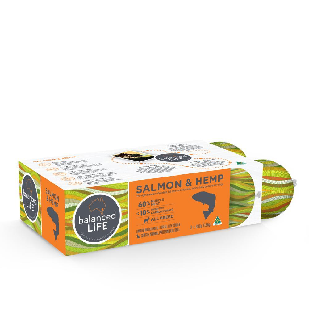 Balanced Life LID Salmon and Hemp Roll Dog Food