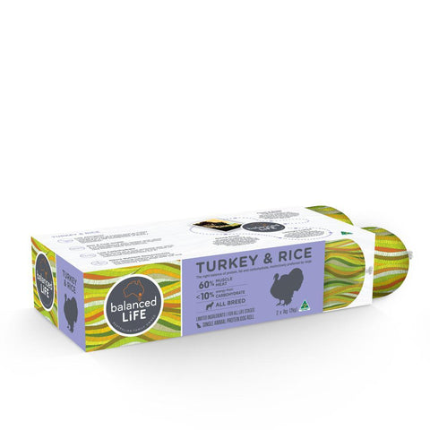 Balanced Life LID Turkey and Rice Roll Dog Food